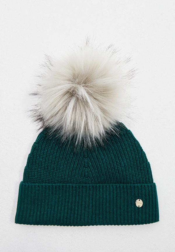 женская шапка coccinelle, зеленая