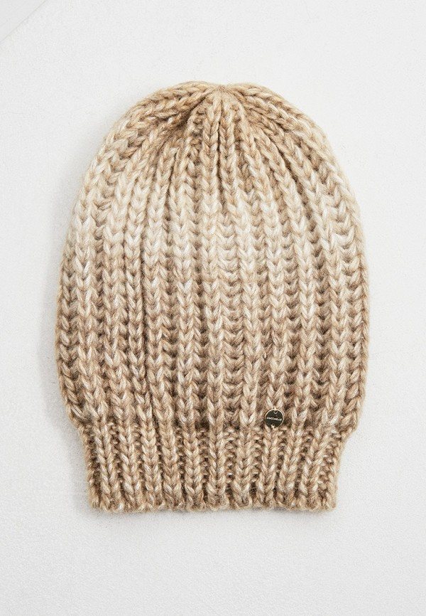 женская шапка coccinelle, бежевая