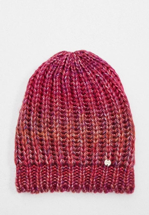женская шапка coccinelle, бордовая