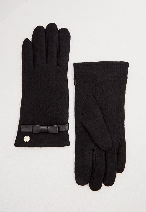 женские текстильные перчатки coccinelle, черные