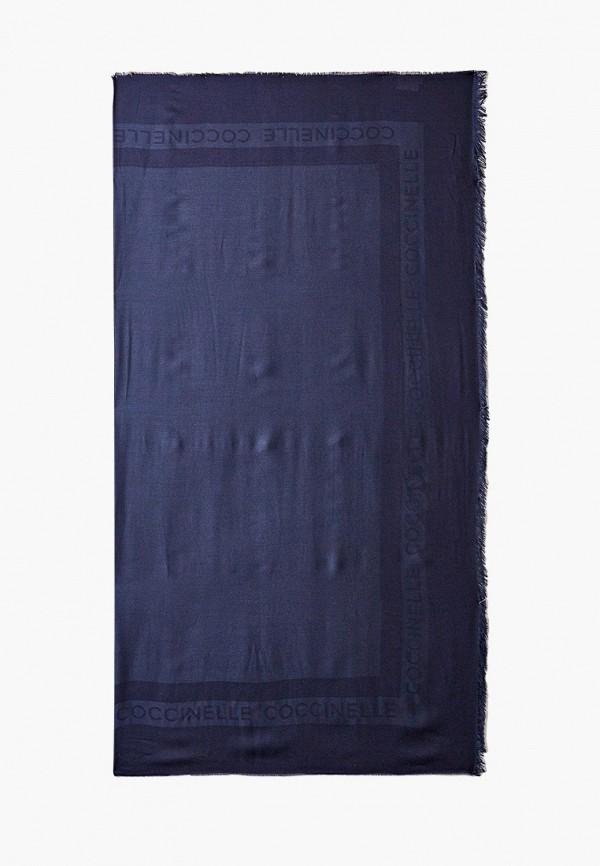 женский платок coccinelle, синий