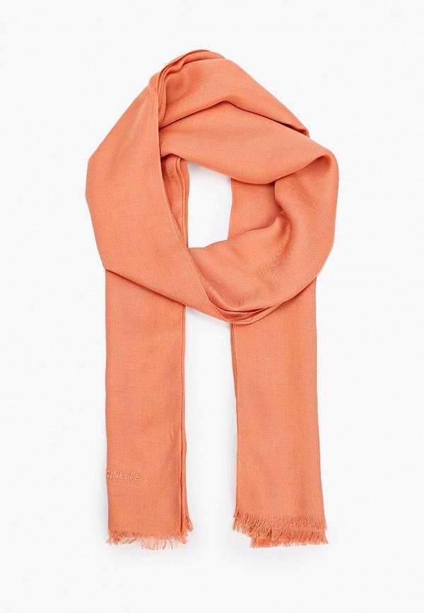 женский палантин coccinelle, оранжевый