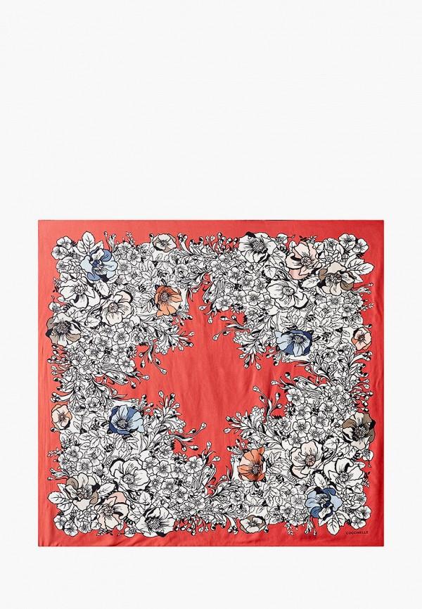 женский платок coccinelle, красный