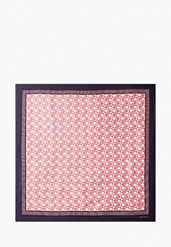 женский платок coccinelle, розовый