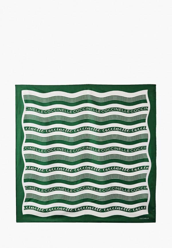 женский платок coccinelle, зеленый