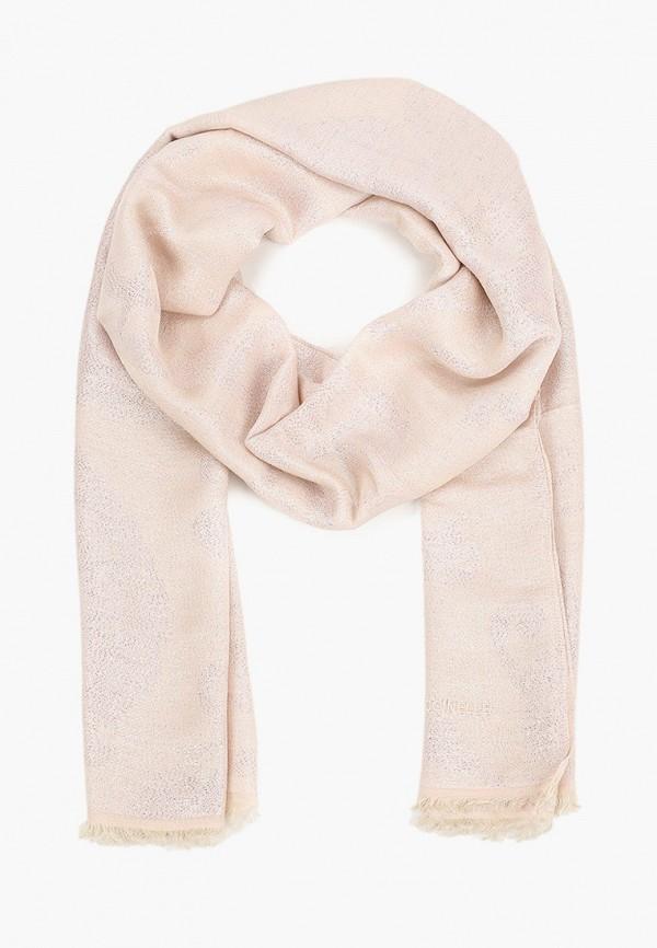 женский палантин coccinelle, розовый