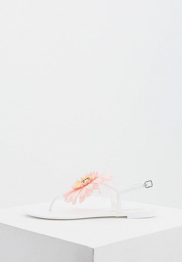 женские сланцы colors of california, белые
