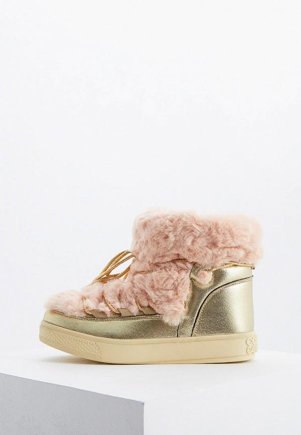 женские ботинки colors of california, золотые