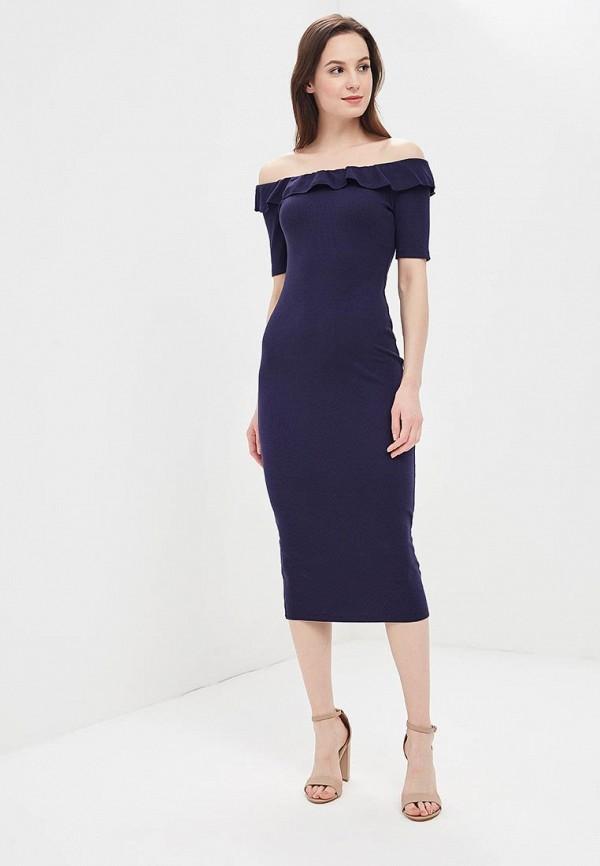 женское повседневные платье compania fantastica, синее