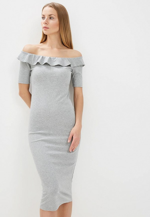 женское повседневные платье compania fantastica, серое