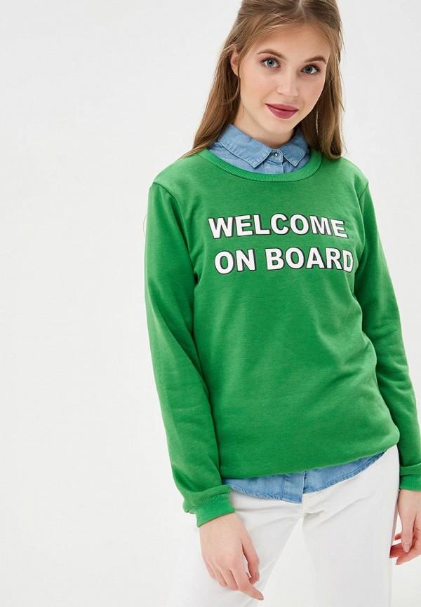 женский свитшот compania fantastica, зеленый
