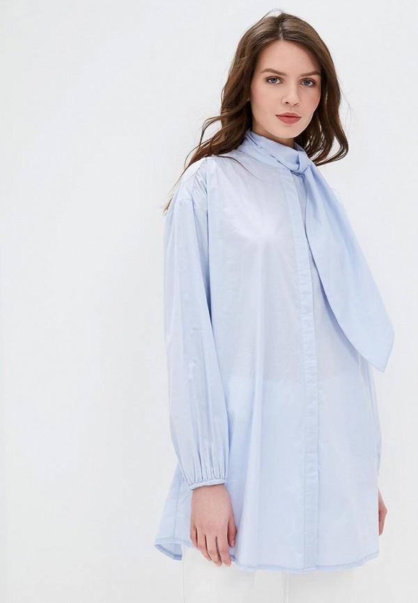женская блузка compania fantastica, голубая