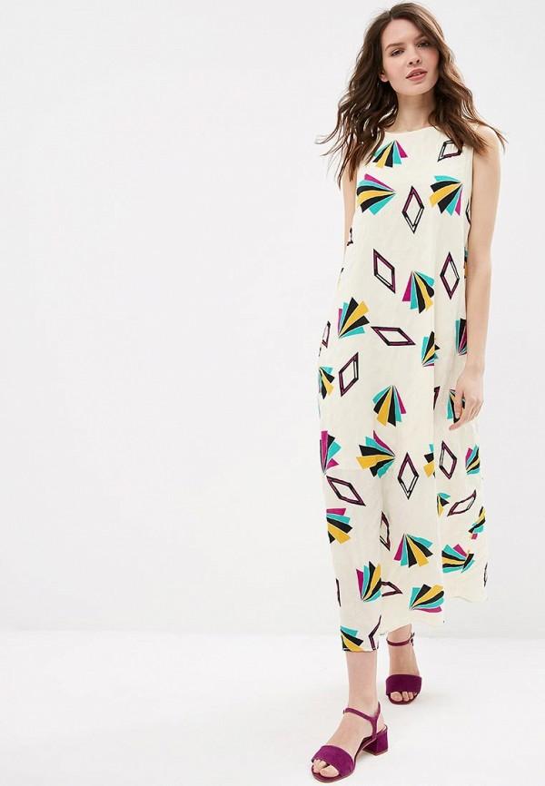 женское повседневные платье compania fantastica, бежевое