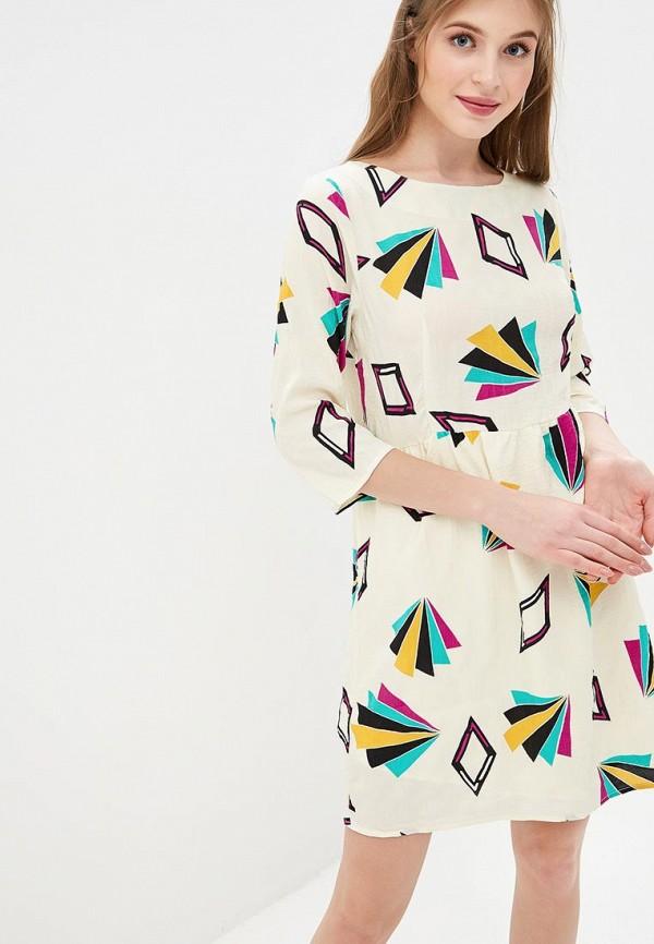 Купить Платье Compania Fantastica, co713eweoxz7, бежевый, Весна-лето 2019