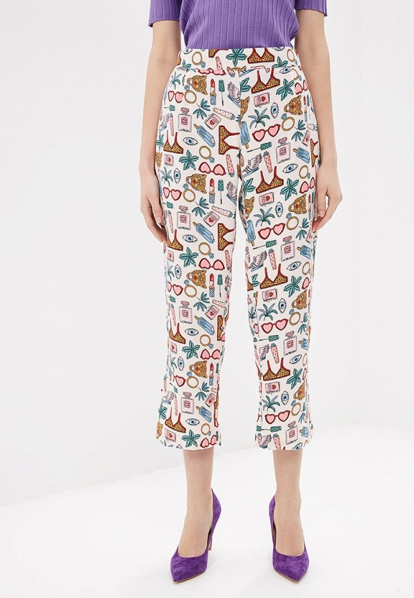 женские повседневные брюки compania fantastica, розовые