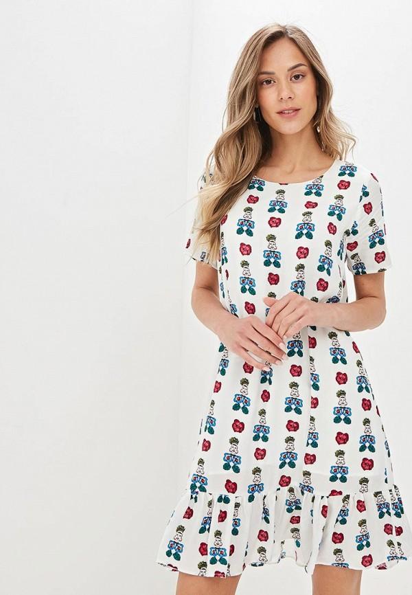 женское повседневные платье compania fantastica, белое