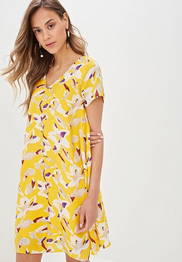 женское повседневные платье compania fantastica, желтое