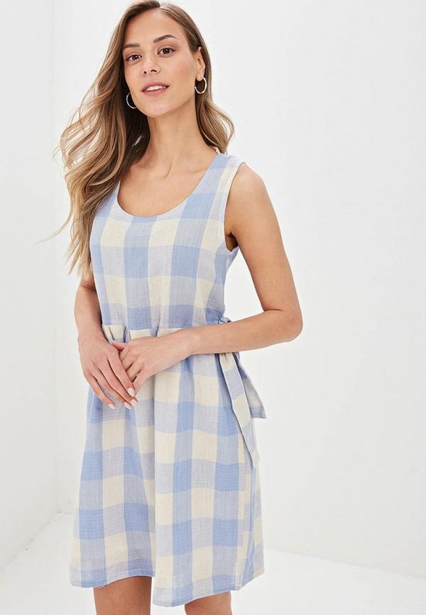 женское повседневные платье compania fantastica, голубое