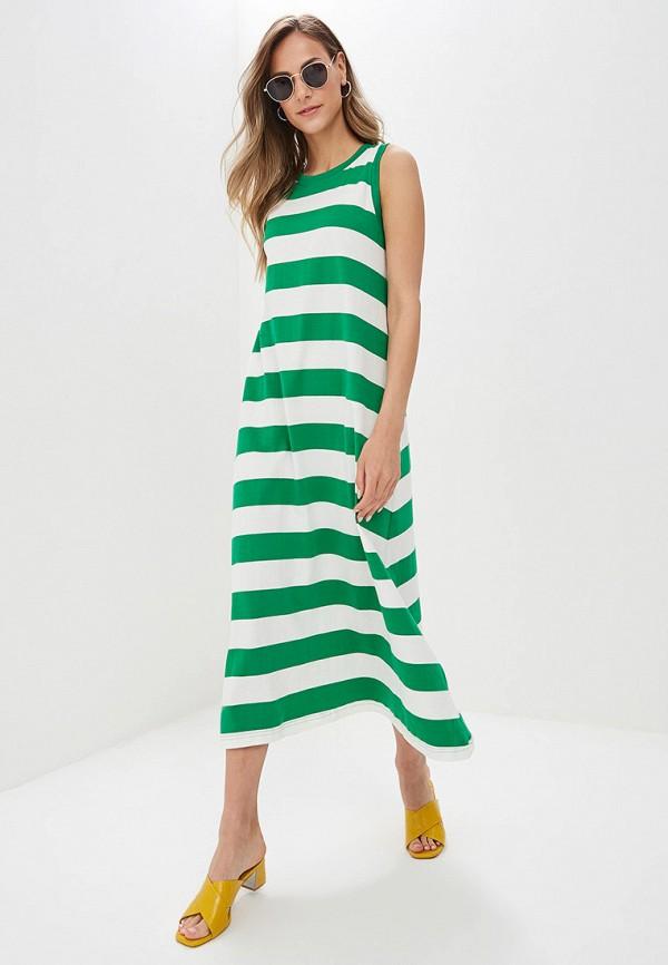 женское повседневные платье compania fantastica, зеленое