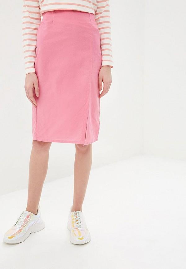 женская прямые юбка compania fantastica, розовая