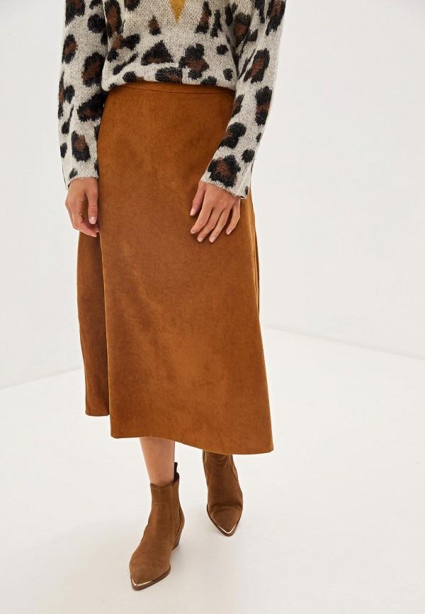 женская юбка compania fantastica, коричневая