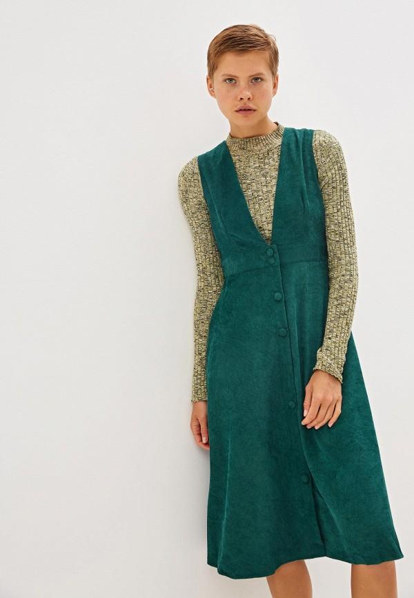 женский сарафан compania fantastica, зеленый