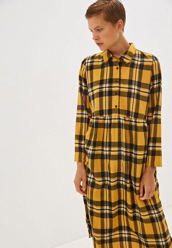 женское платье compania fantastica, желтое