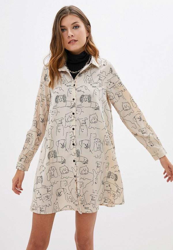 женское платье compania fantastica, розовое