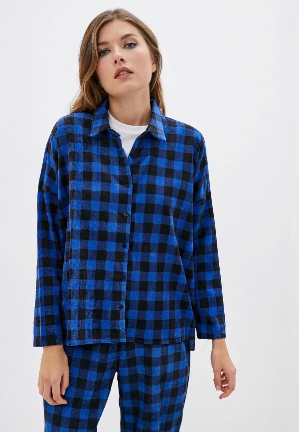 женская рубашка с длинным рукавом compania fantastica, синяя