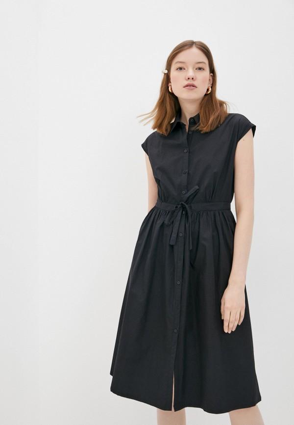 женское повседневные платье compania fantastica, черное