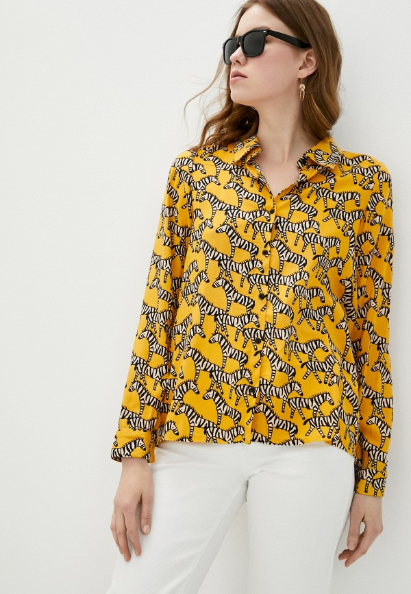 женская блузка compania fantastica, желтая