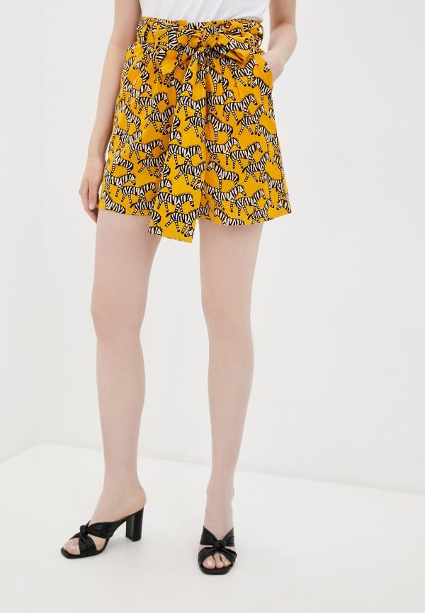 женские повседневные шорты compania fantastica, желтые