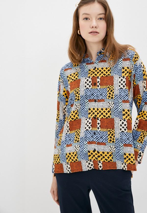 женская блузка compania fantastica, разноцветная