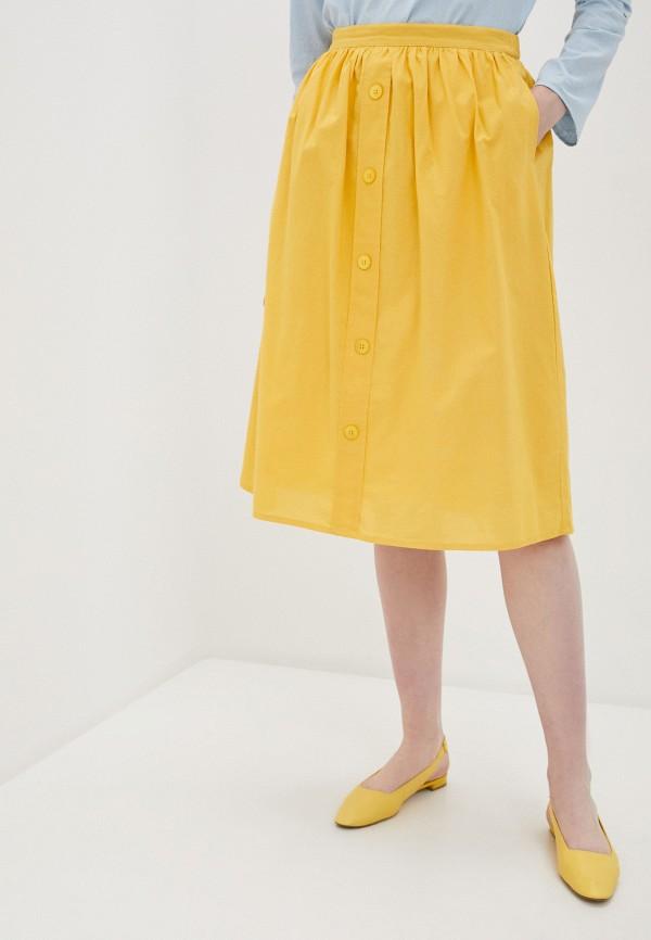 женская юбка compania fantastica, желтая