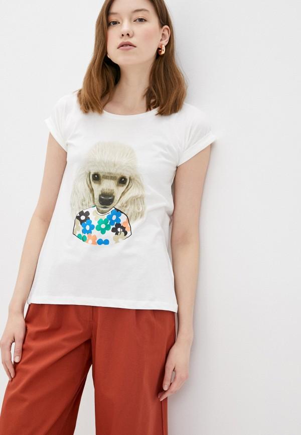 женская футболка compania fantastica, белая