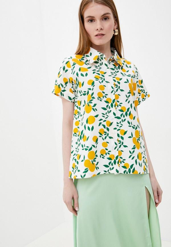 женская рубашка с коротким рукавом compania fantastica, белая