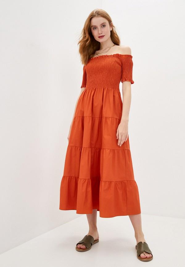 женское платье compania fantastica, оранжевое