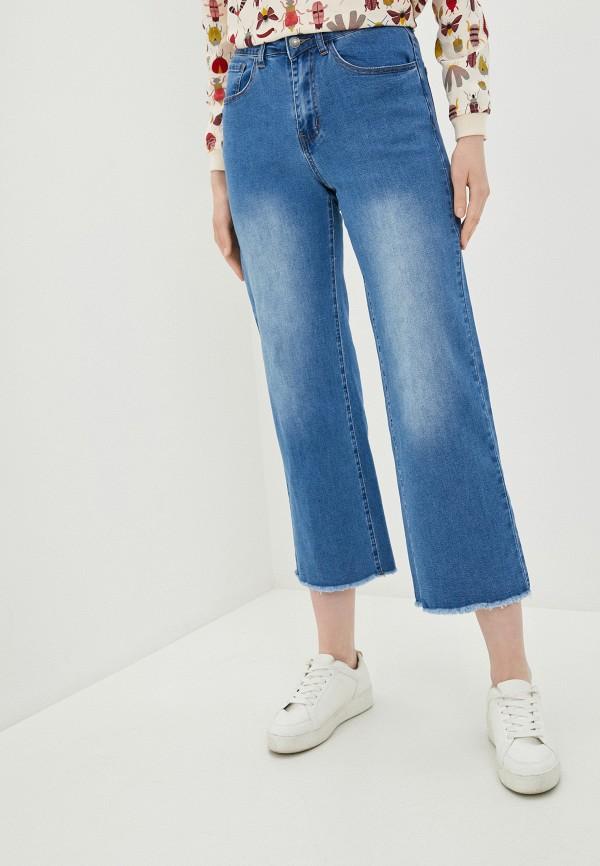 женские джинсы клеш compania fantastica, синие