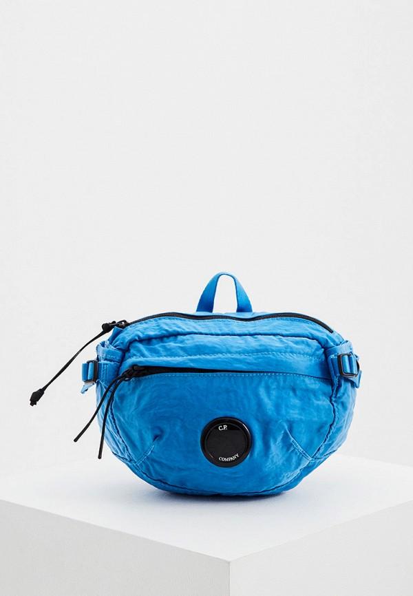 мужская поясные сумка c.p. company, синяя