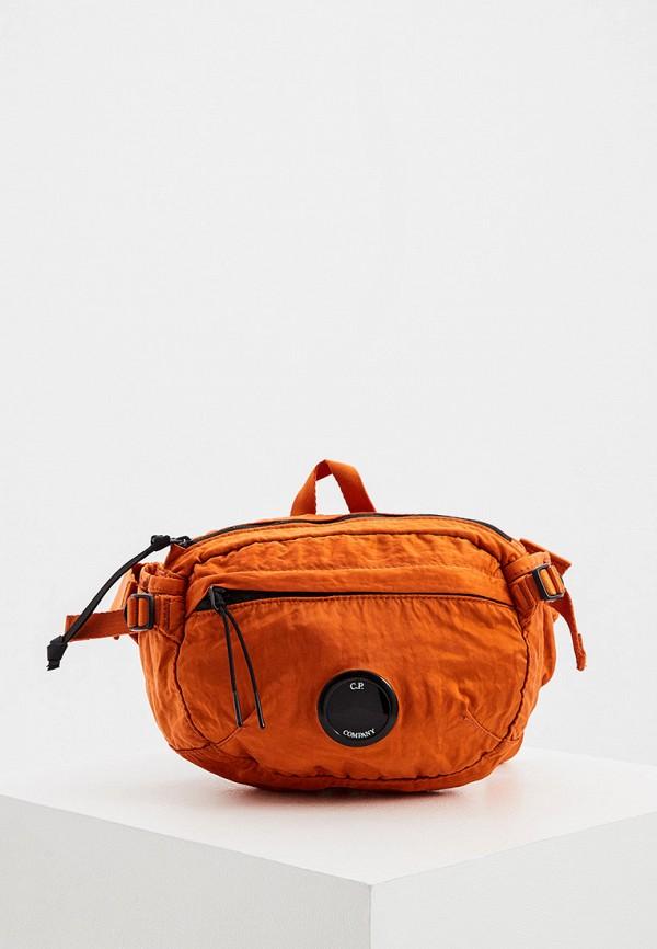 мужская поясные сумка c.p. company, оранжевая