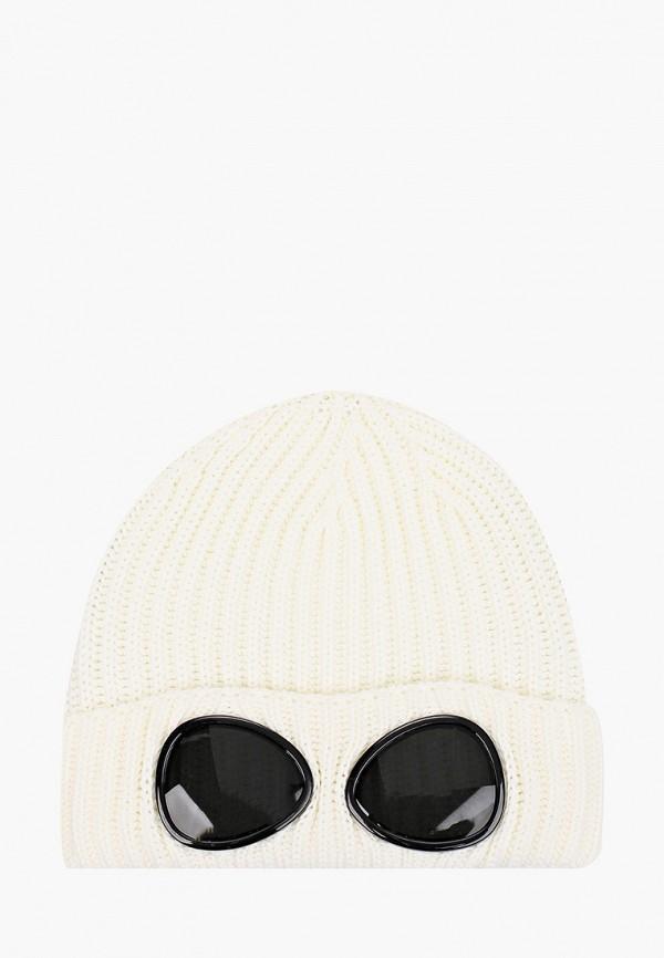 шапка c.p. company для мальчика, белая