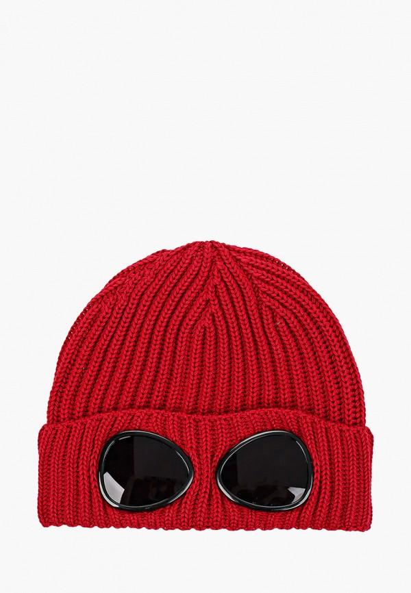 шапка c.p. company для мальчика, бордовая