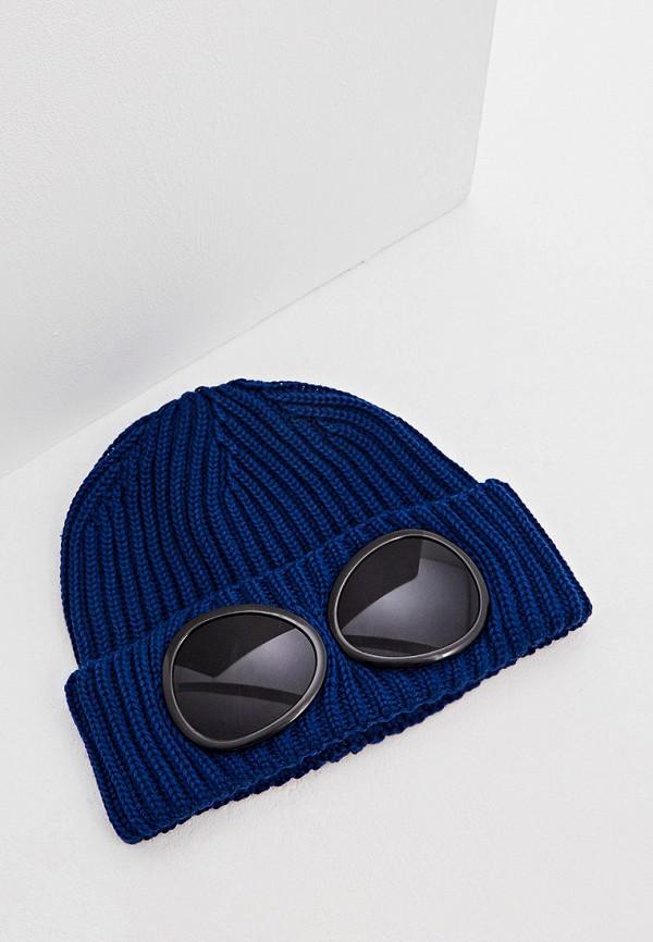 мужская шапка c.p. company, синяя