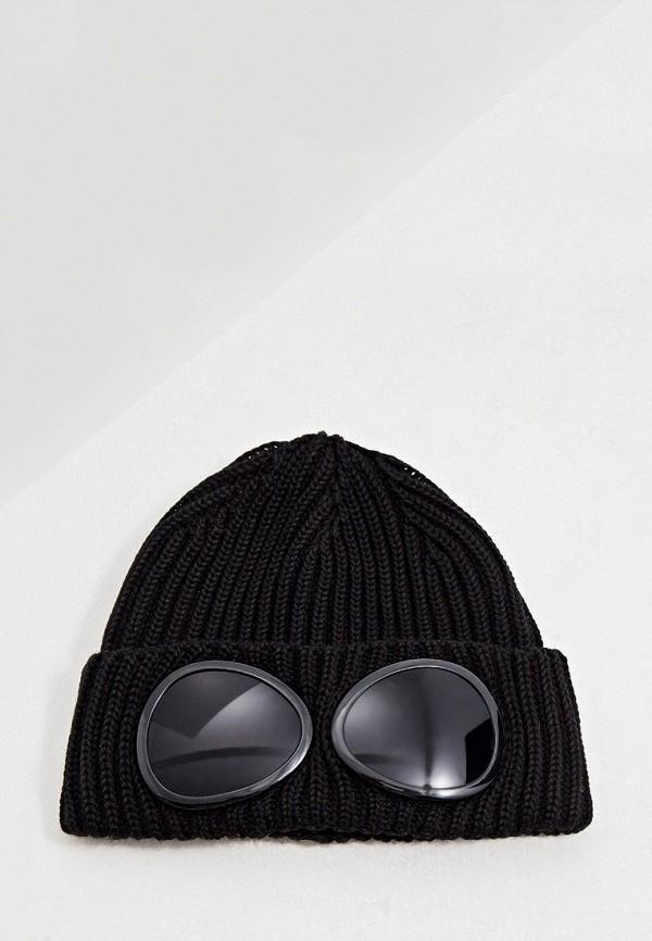 мужская шапка c.p. company, черная