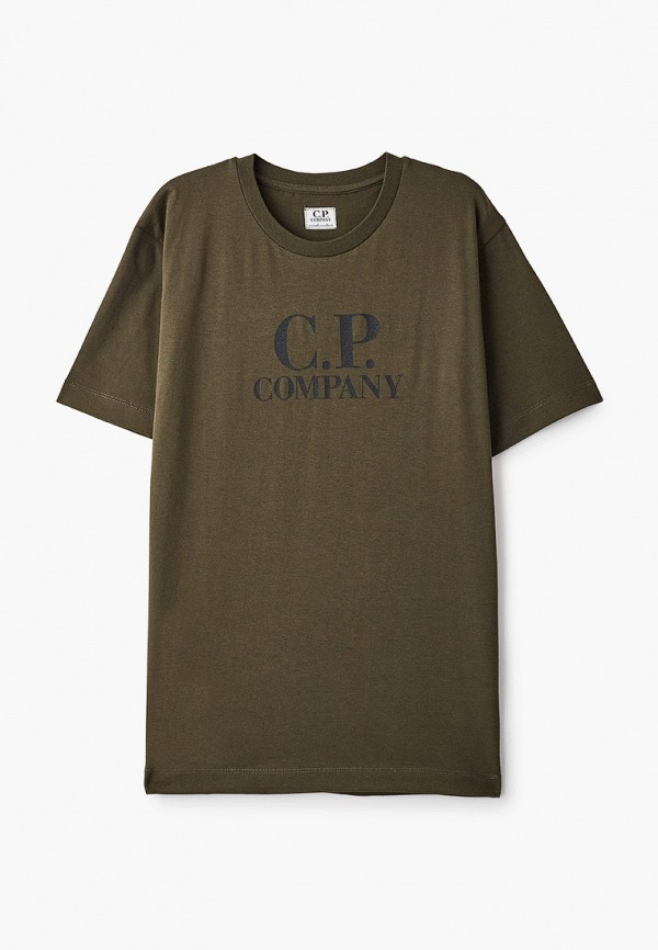 футболка с коротким рукавом c.p. company для мальчика, хаки