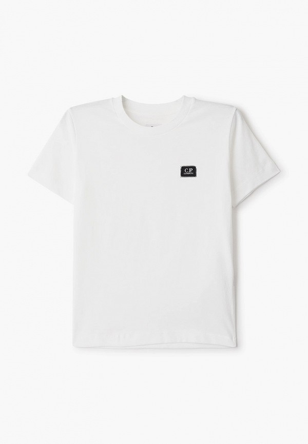 футболка с коротким рукавом c.p. company для мальчика, белая