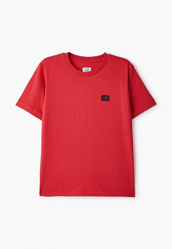 футболка с коротким рукавом c.p. company для мальчика, красная