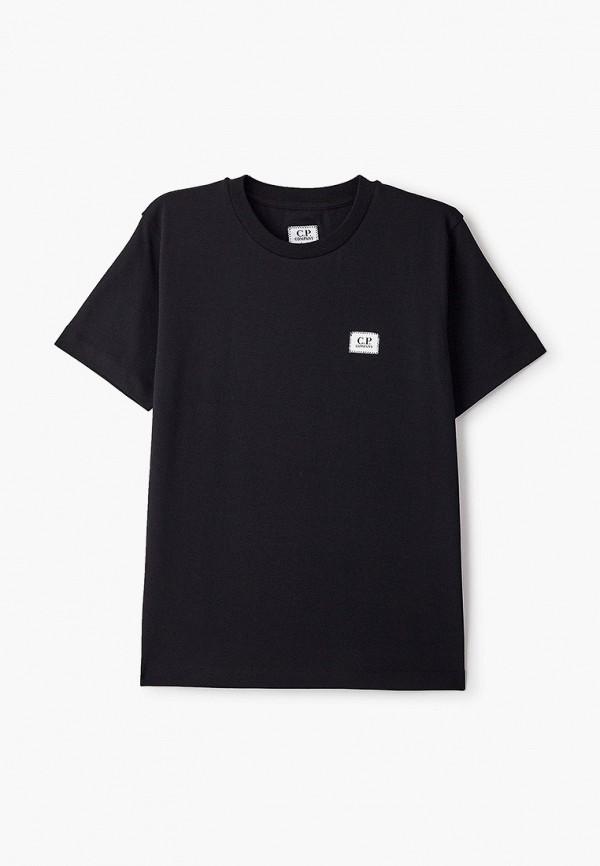 футболка с коротким рукавом c.p. company для мальчика, черная
