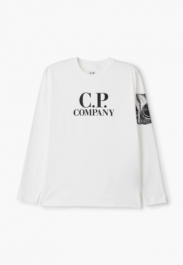 лонгслив c.p. company для мальчика, белый