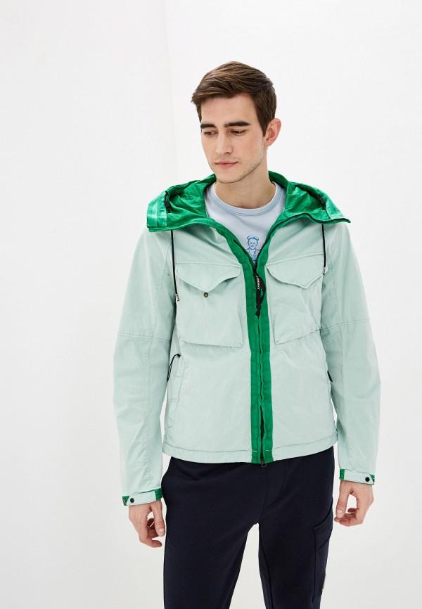 мужская куртка c.p. company, зеленая